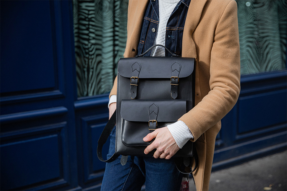 sac à dos homme business casual en cuir